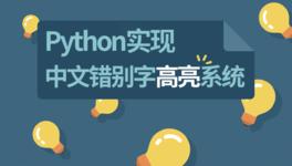 Python 实现中文错别字高亮系统
