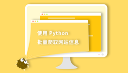 Python 实现网站信息批量爬取